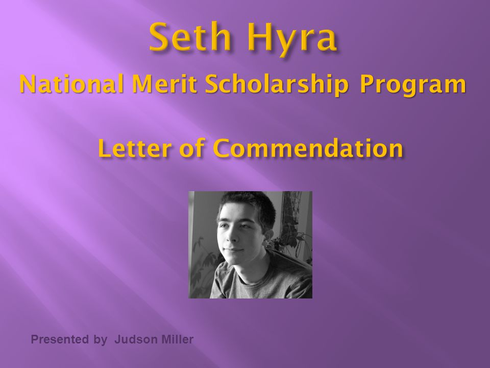 Letter of Commendation