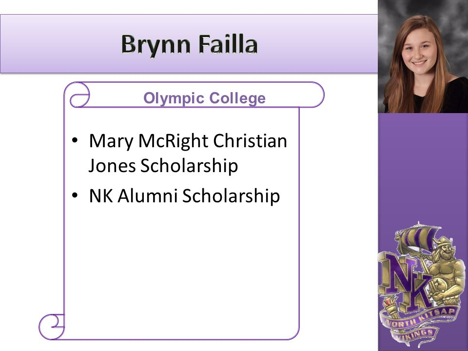 Brynn Failla Mary McRight Christian Jones Scholarship