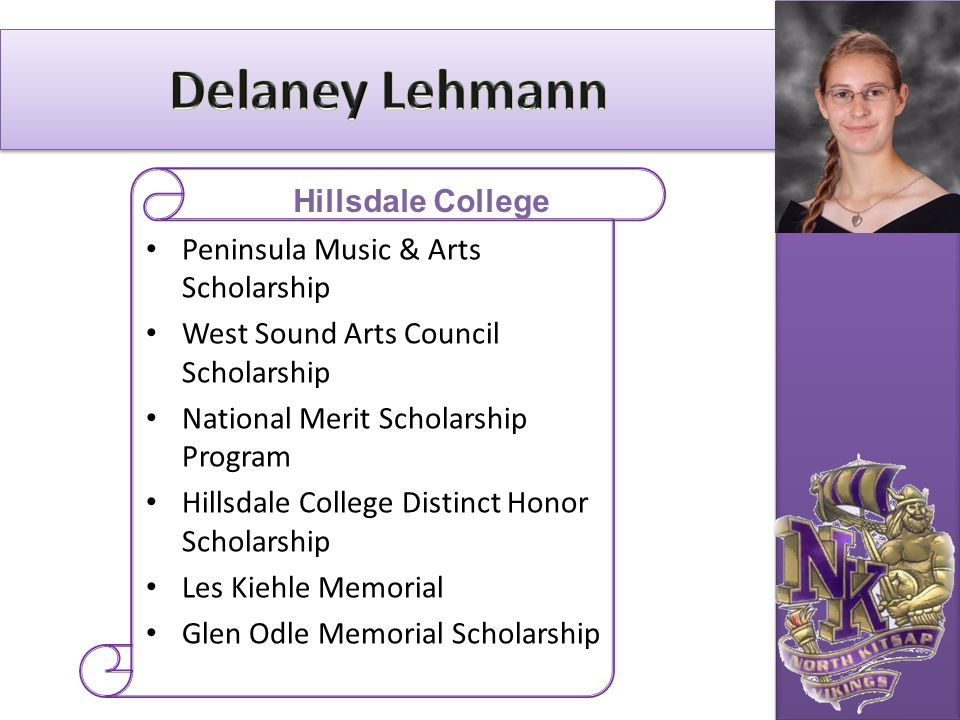 Delaney Lehmann Hillsdale College Peninsula Music & Arts Scholarship
