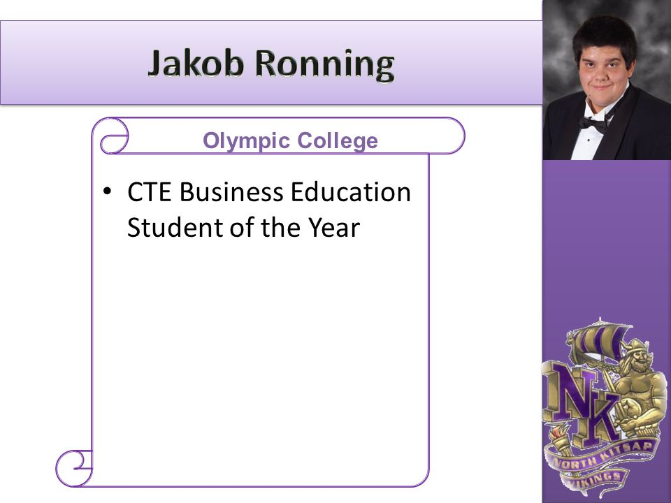 Jakob Ronning CTE Business Education Student of the Year