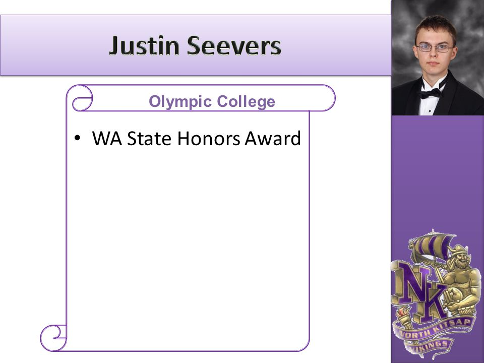Justin Seevers Olympic College WA State Honors Award