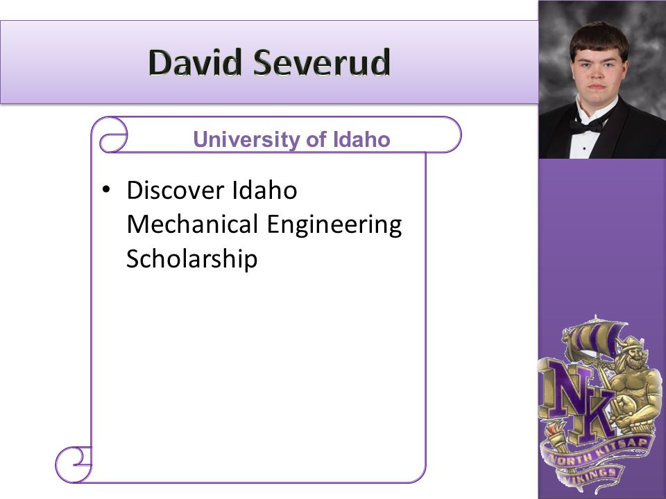 David Severud Discover Idaho Mechanical Engineering Scholarship