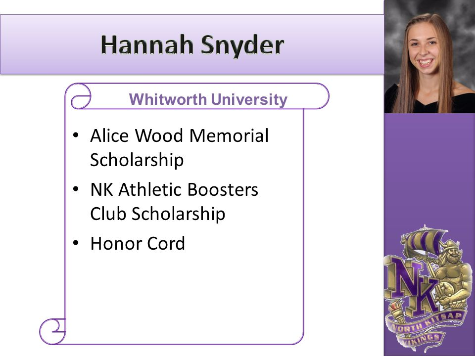 Hannah Snyder Alice Wood Memorial Scholarship