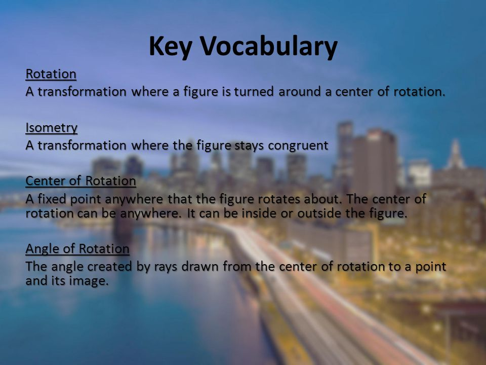 Key Vocabulary Rotation