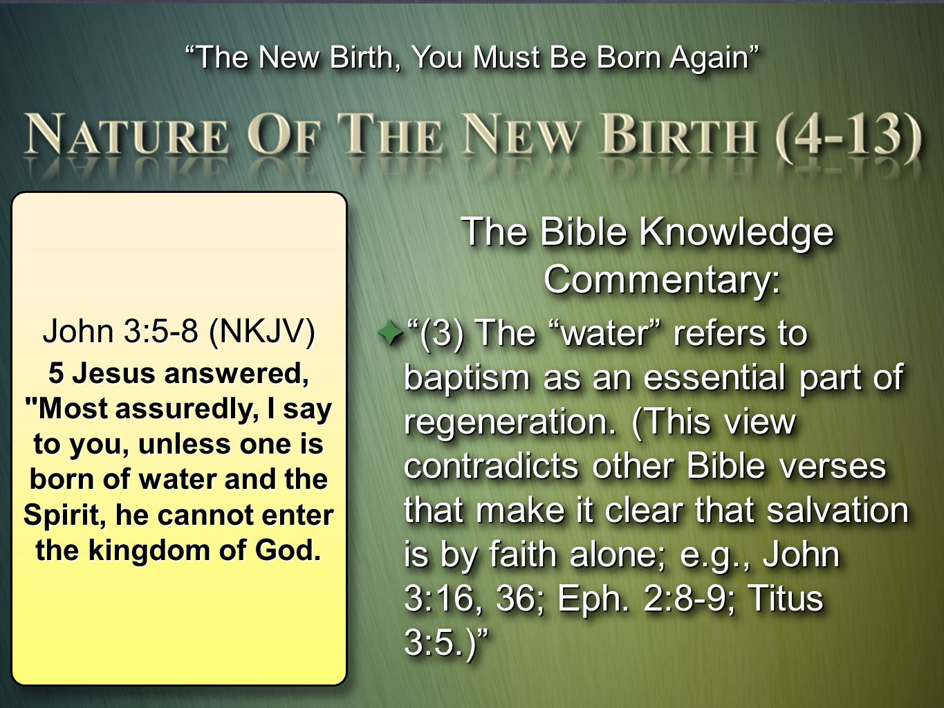 The Bible Knowledge Commentary: