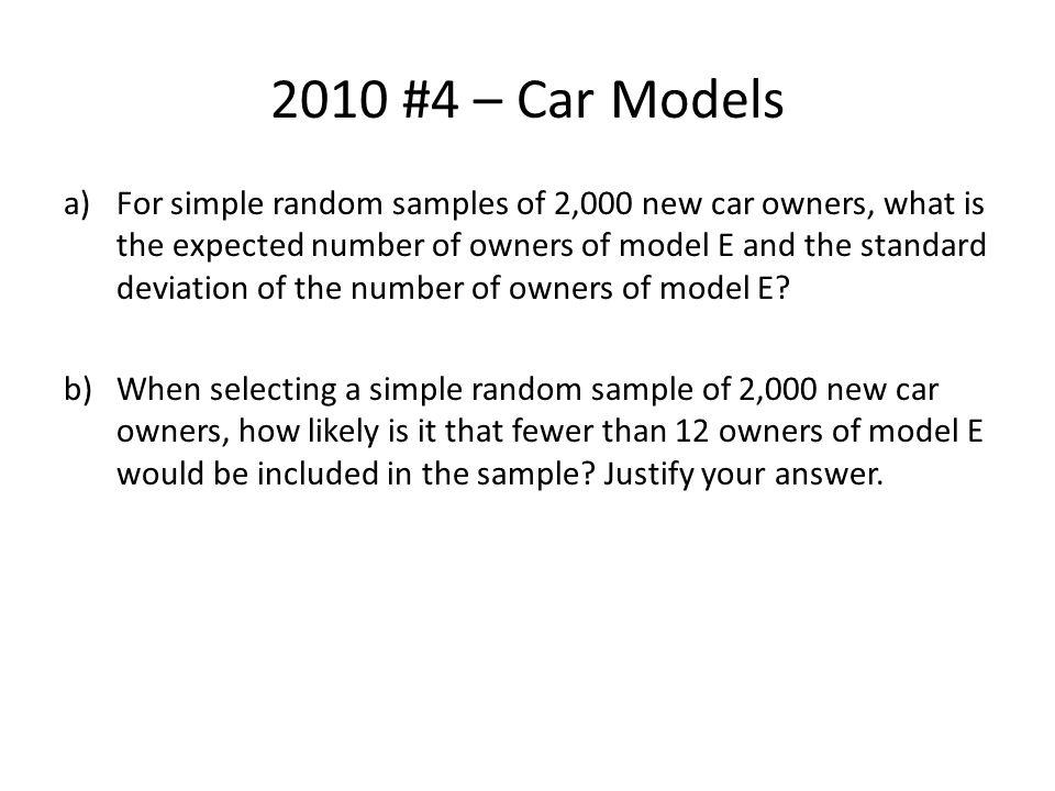 2010 #4 – Car Models