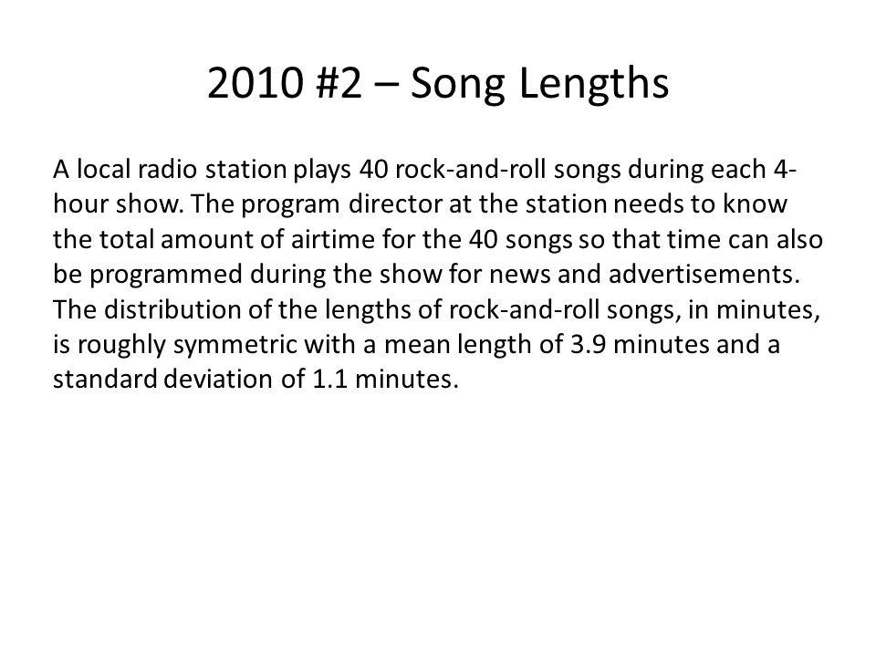 2010 #2 – Song Lengths