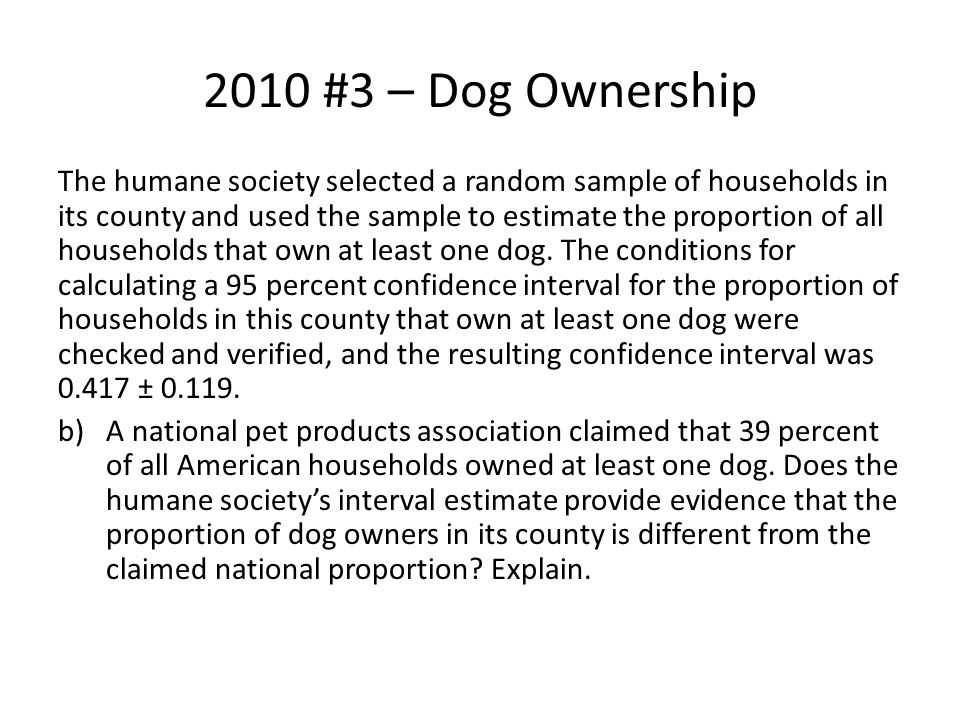 2010 #3 – Dog Ownership