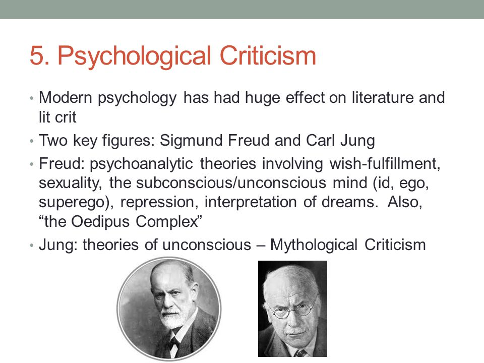 5. Psychological Criticism