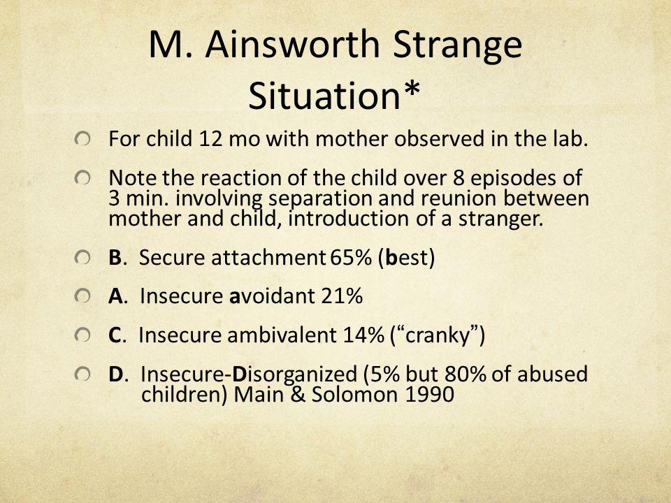 M. Ainsworth Strange Situation*