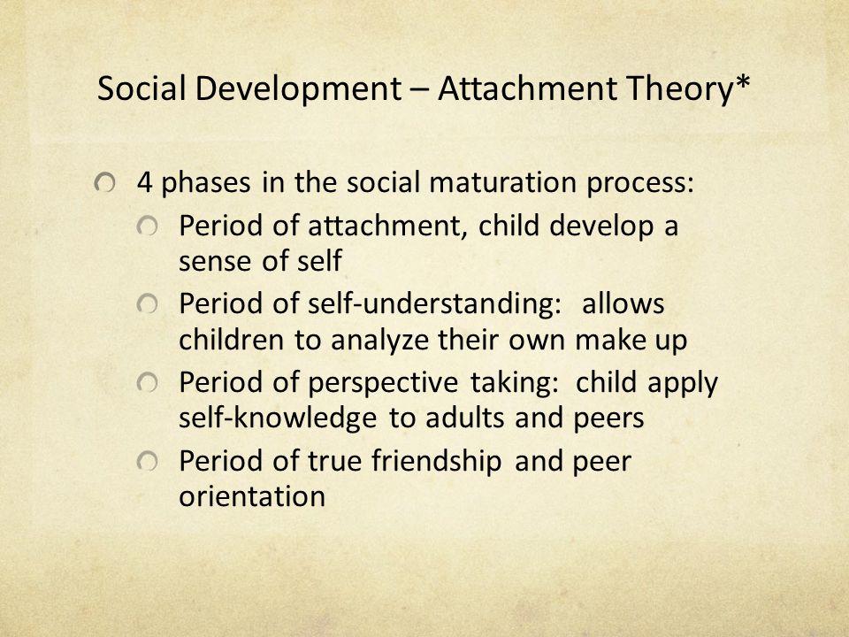 Social Development – Attachment Theory*