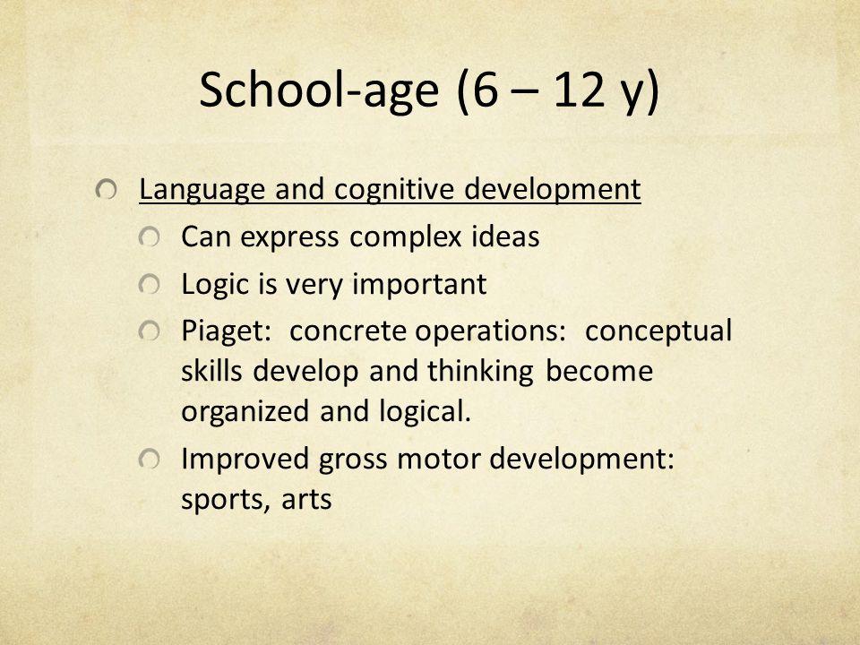 School-age (6 – 12 y) Language and cognitive development