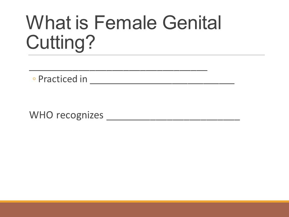 What is Female Genital Cutting