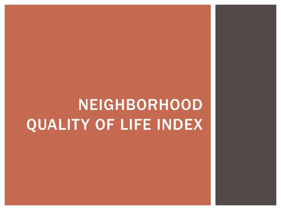 Neighborhood Quality of Life index
