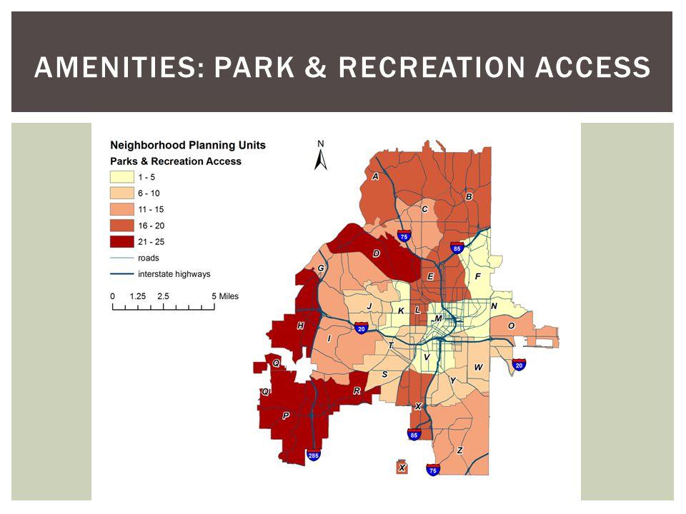 Amenities: Park & Recreation Access