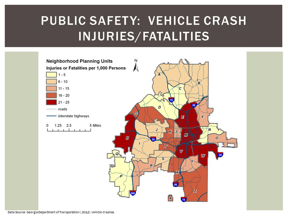 PUBLIC SAFETY: Vehicle Crash Injuries/Fatalities