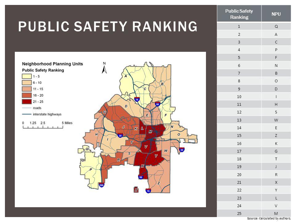 PUBLIC SAFETY ranking Public Safety NPU Ranking 1 Q 2 A 3 C 4 P 5 F 6