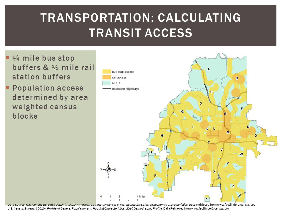 TRANSPORTATION: Calculating Transit Access