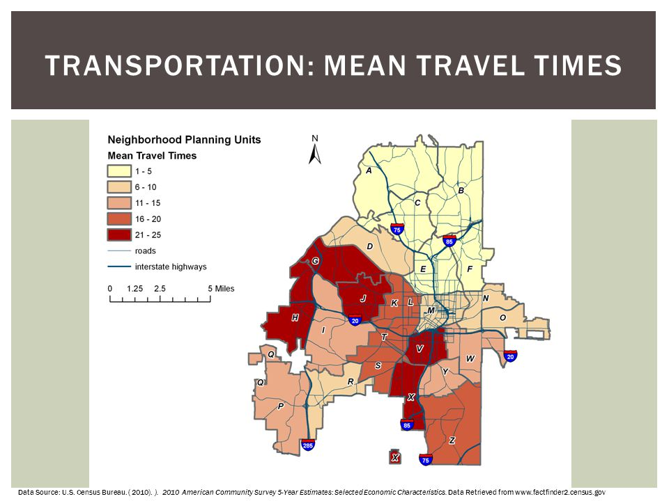 TRANSPORTATION: Mean Travel Times