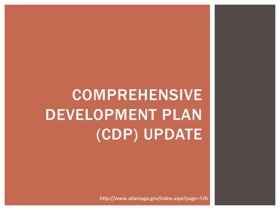 Comprehensive development Plan (CDP) UPdate