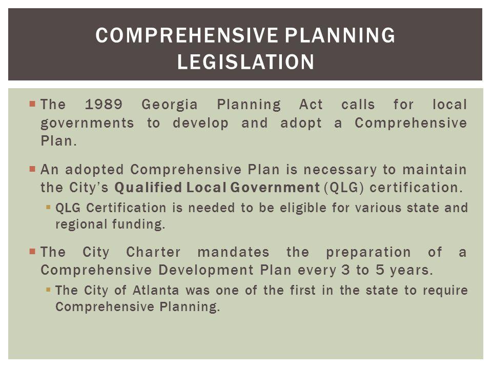 Comprehensive Planning Legislation