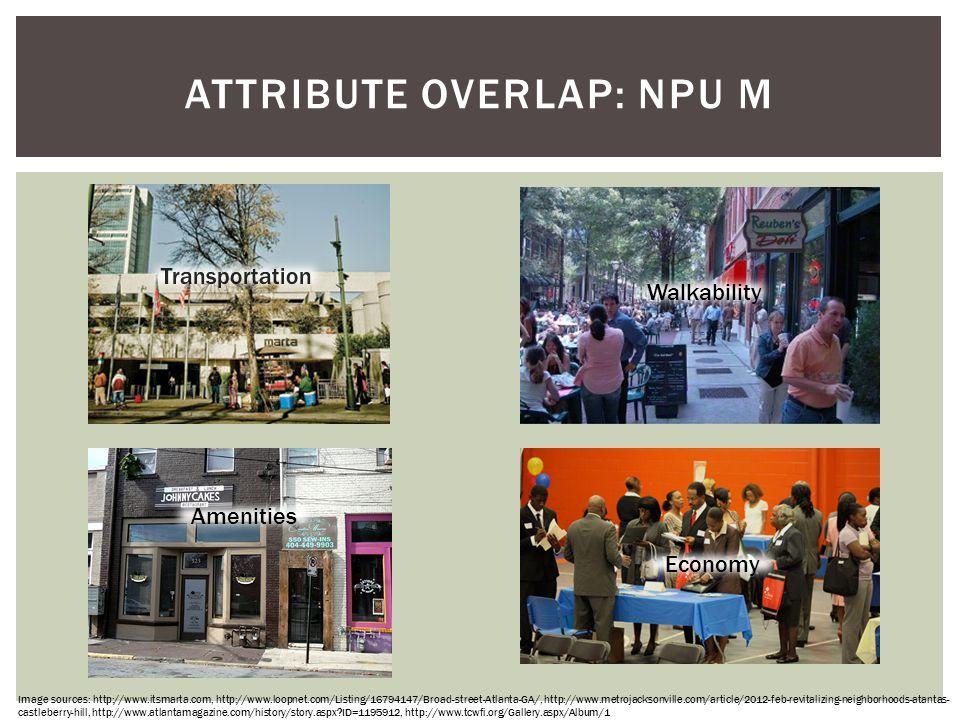 Attribute overlap: NPU M