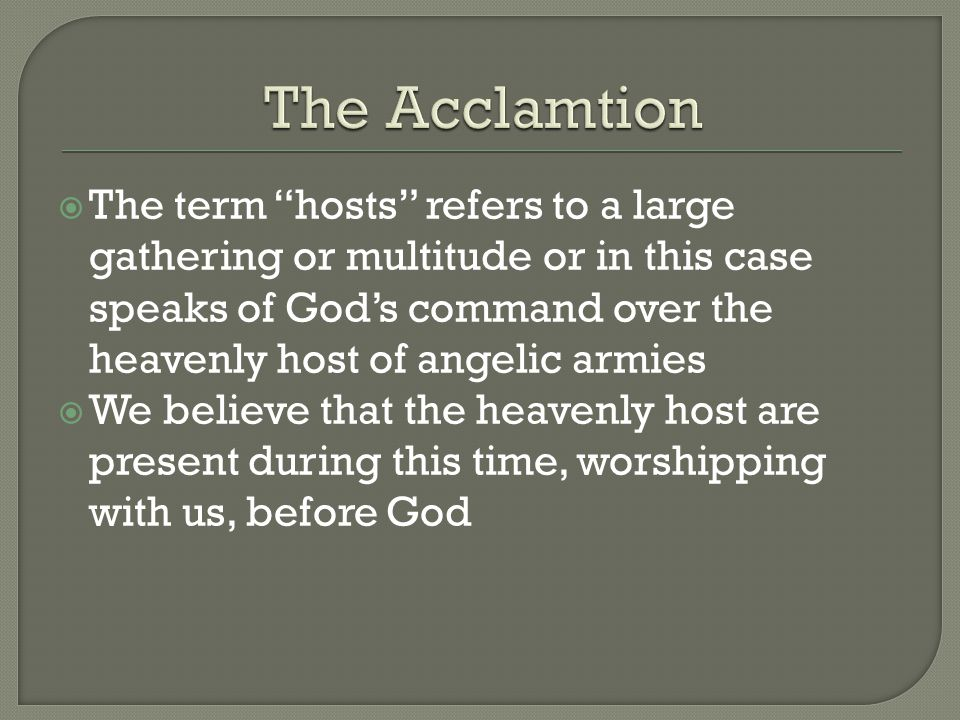 The Acclamtion