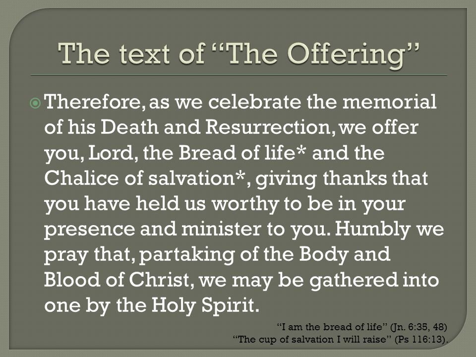 The text of The Offering