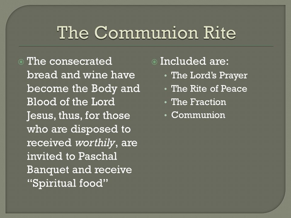 The Communion Rite