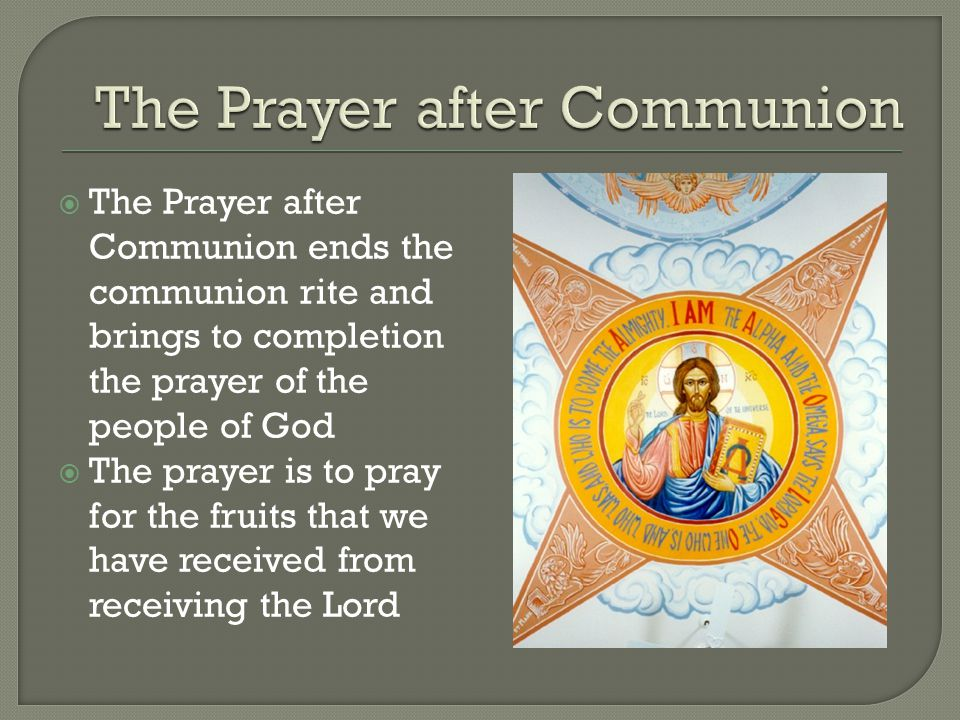 The Prayer after Communion
