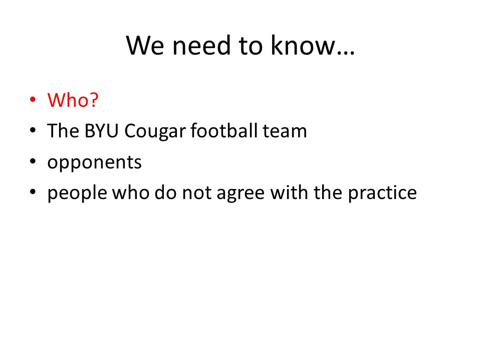 We need to know… Who The BYU Cougar football team opponents