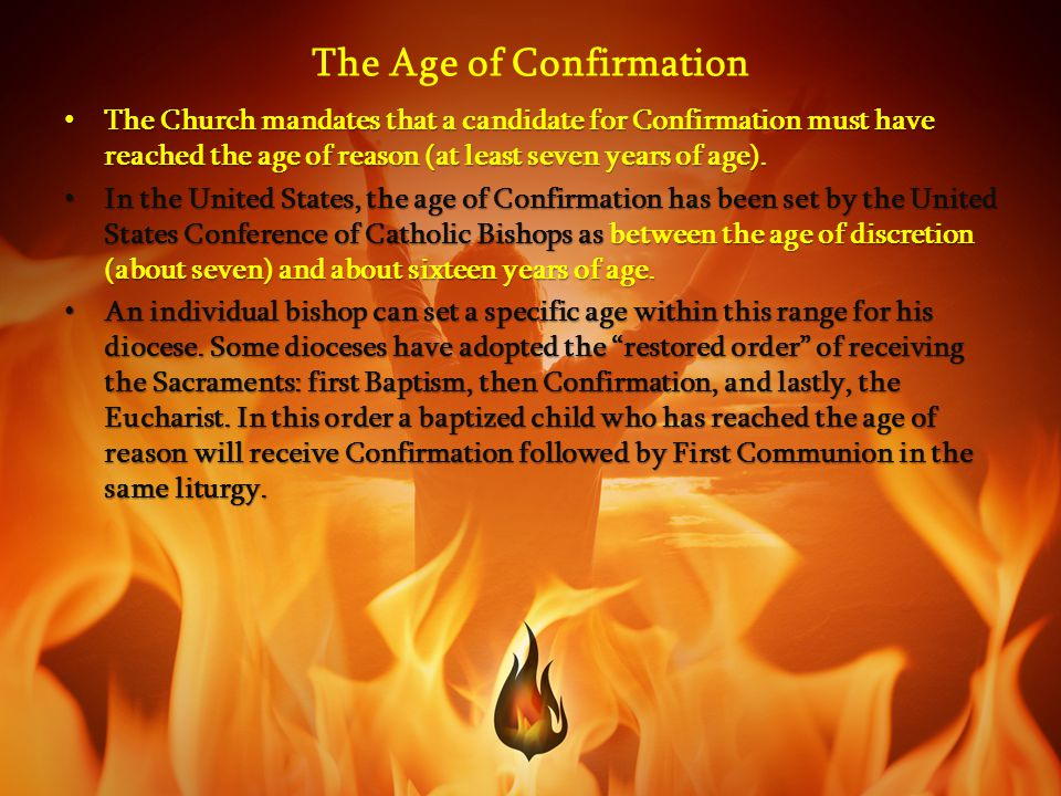 The Age of Confirmation