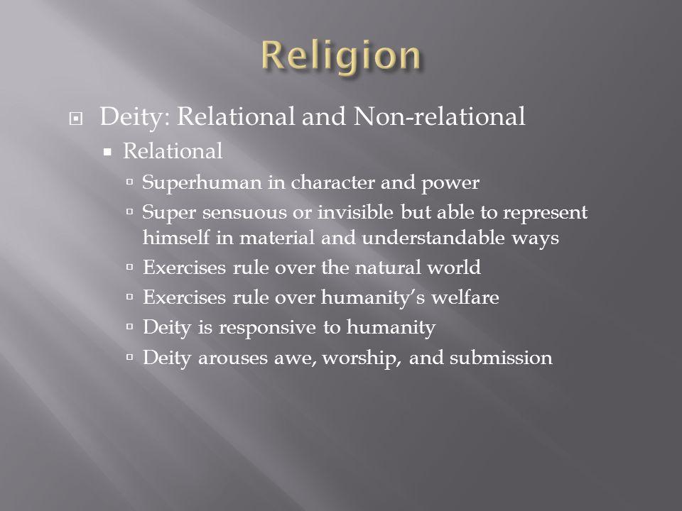 Religion Deity: Relational and Non-relational Relational
