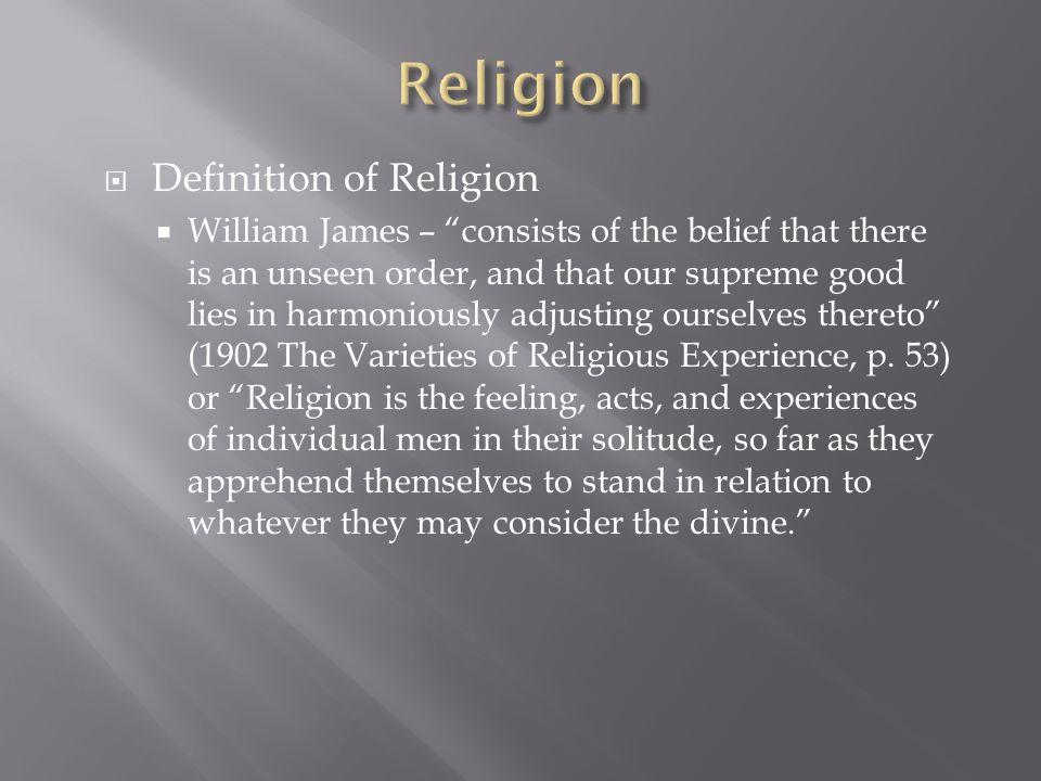 Religion Definition of Religion