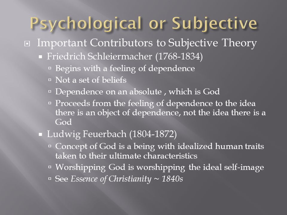 Psychological or Subjective
