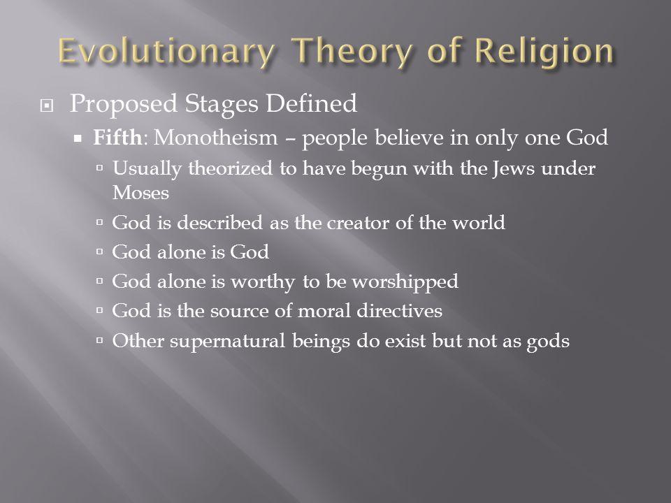 Evolutionary Theory of Religion