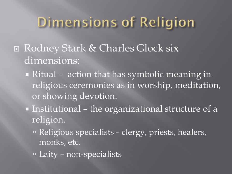 Dimensions of religions