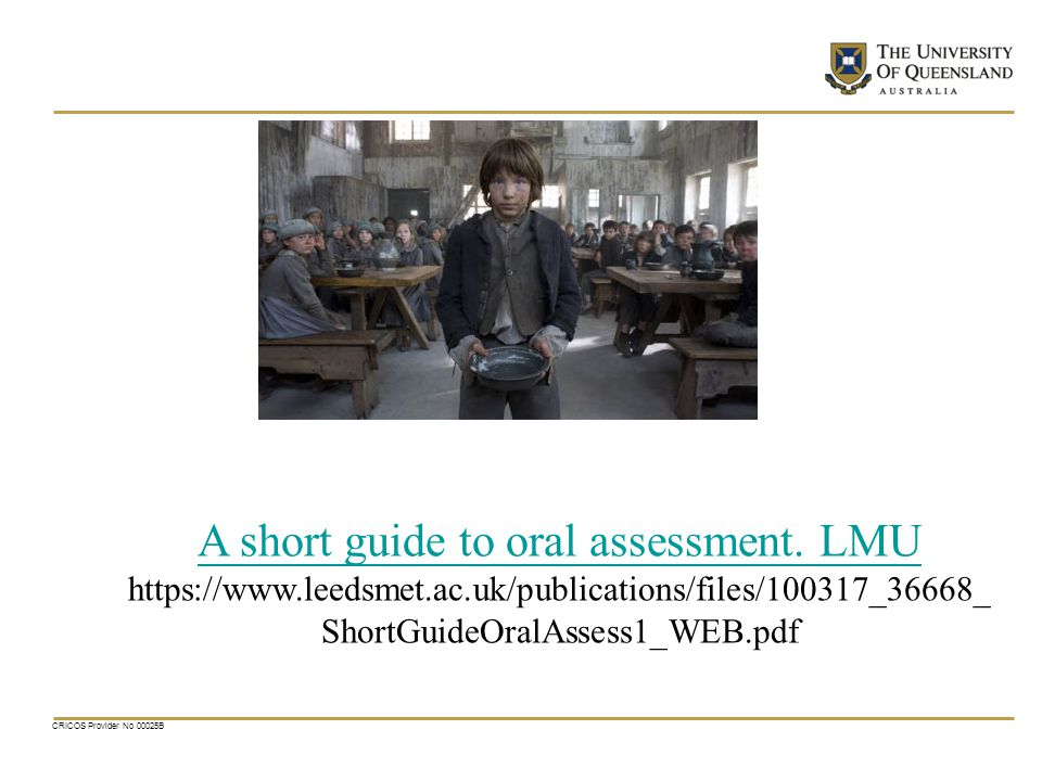 A short guide to oral assessment. LMU
