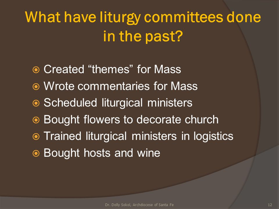 What have liturgy committees done in the past