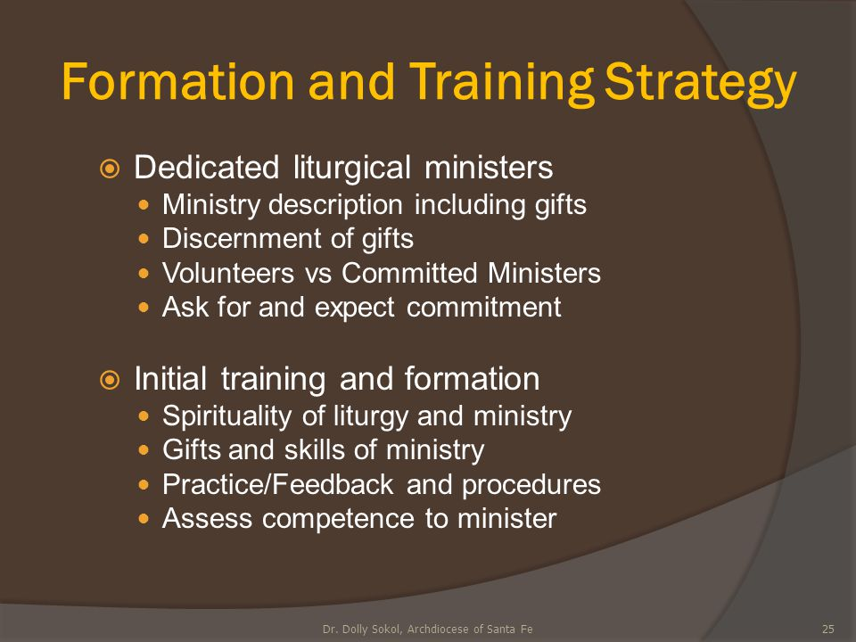 Formation and Training Strategy