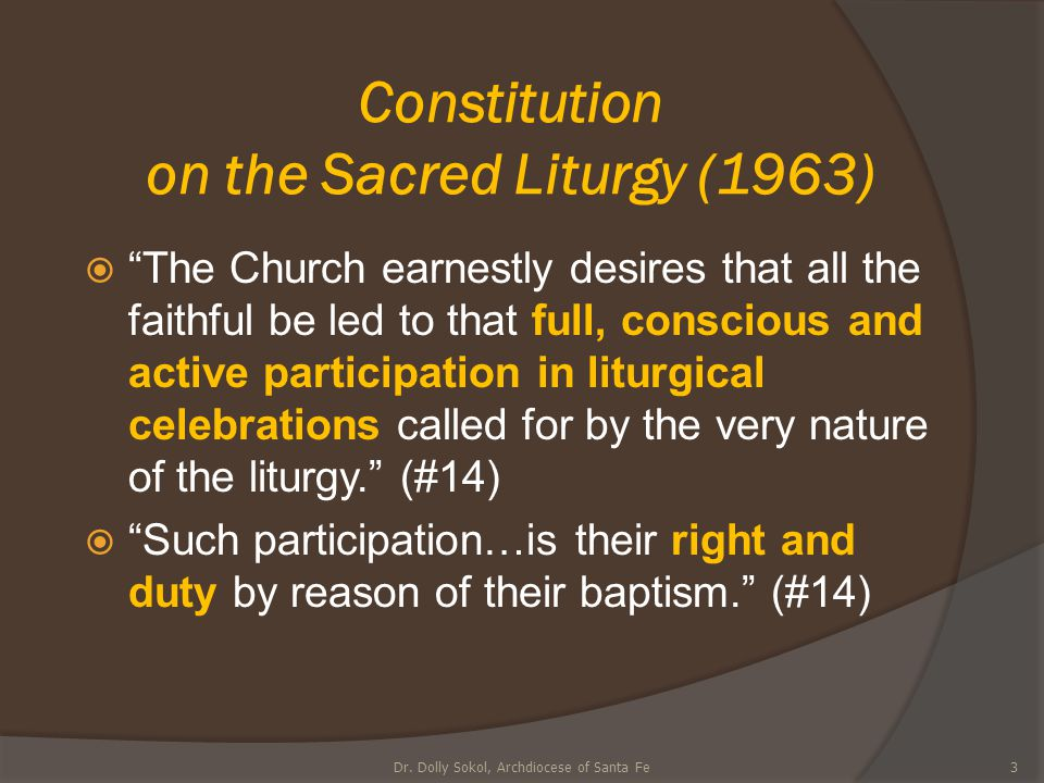 Constitution on the Sacred Liturgy (1963)