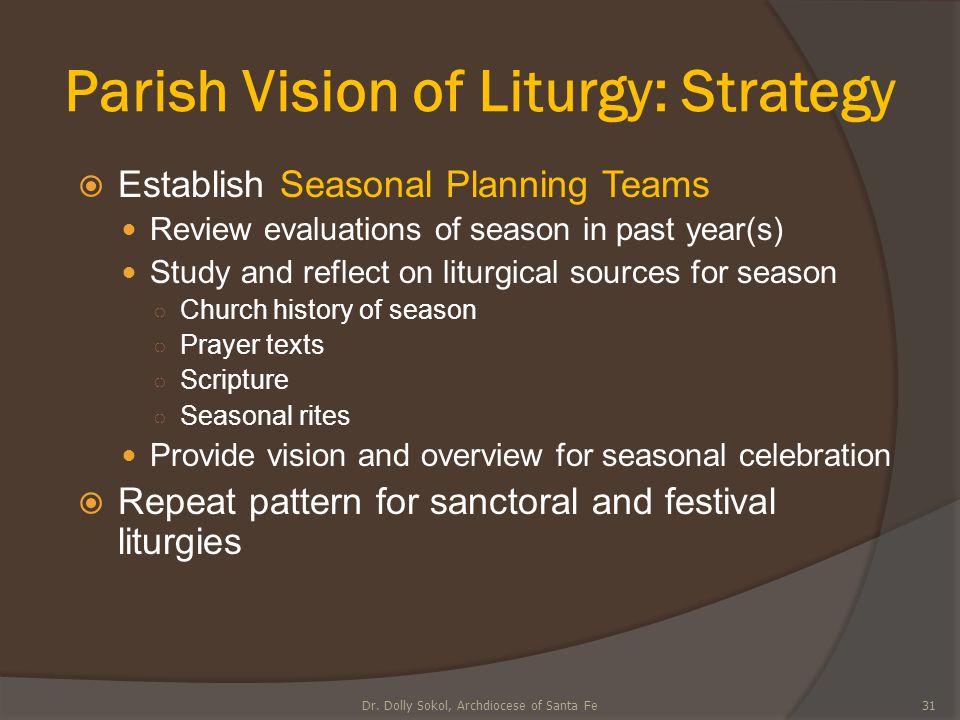 Parish Vision of Liturgy: Strategy