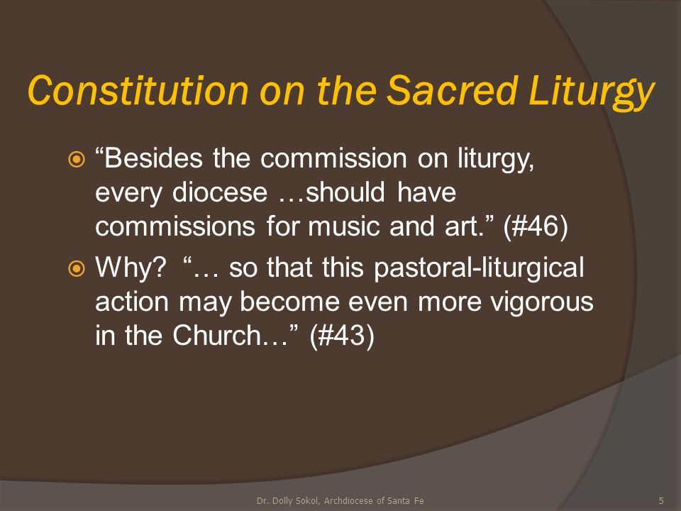 Constitution on the Sacred Liturgy