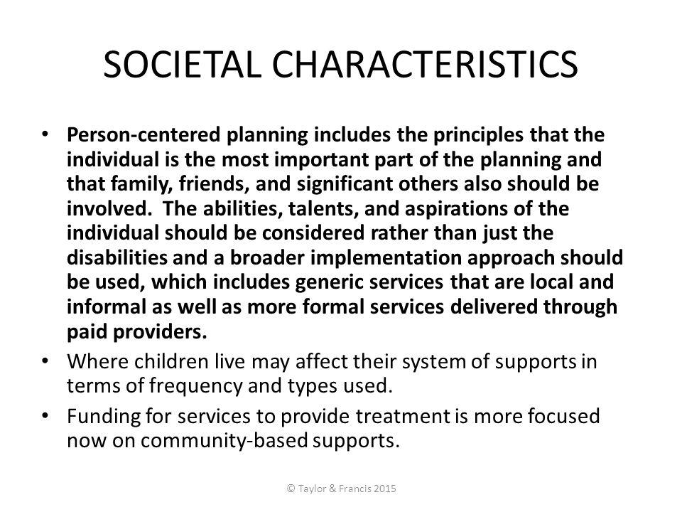 SOCIETAL CHARACTERISTICS