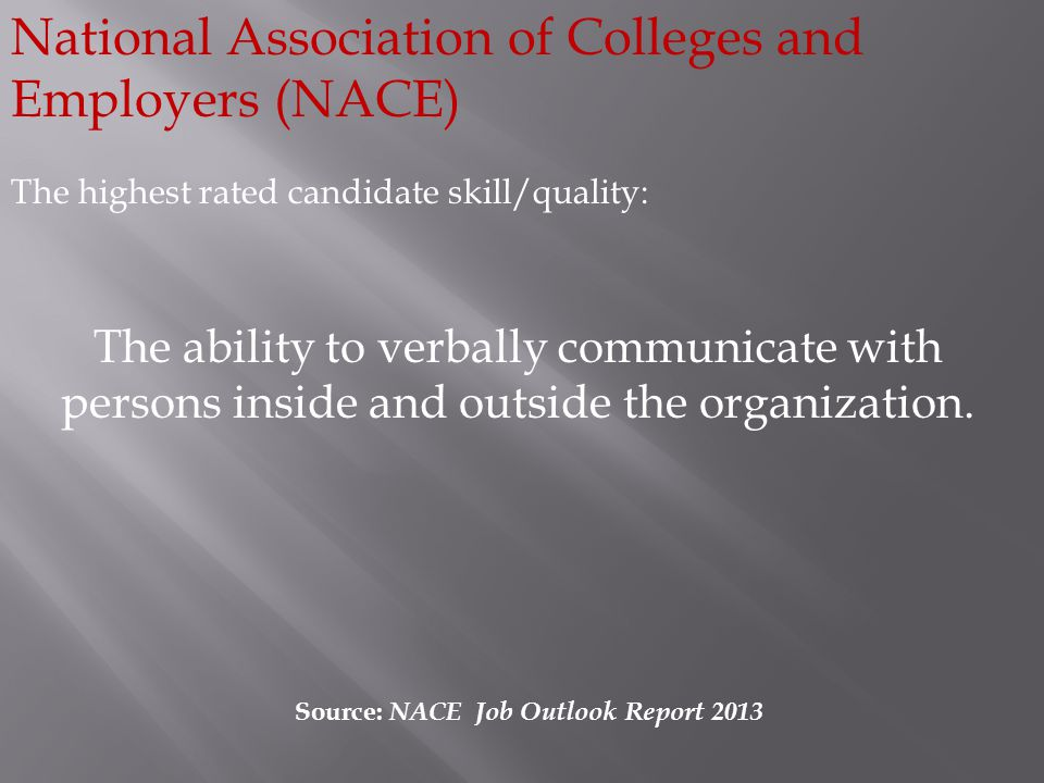 Source: NACE Job Outlook Report 2013