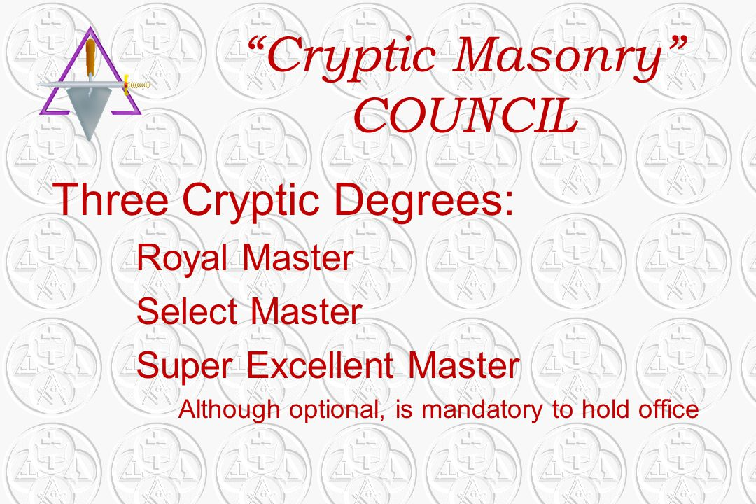 Cryptic Masonry COUNCIL