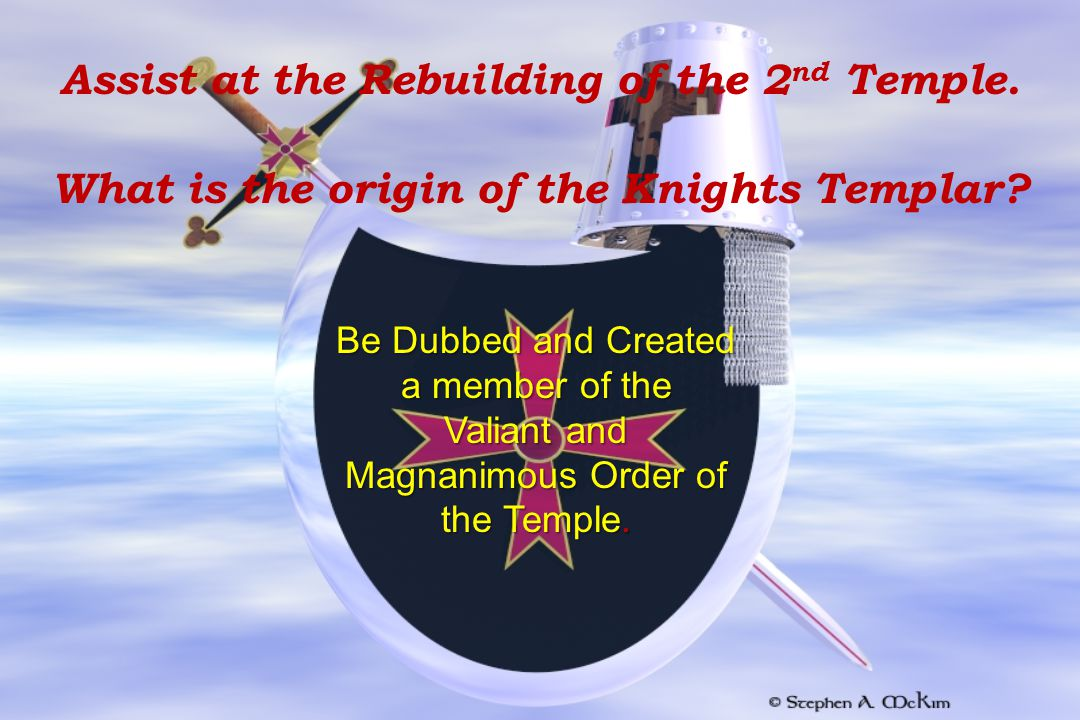 Assist at the Rebuilding of the 2nd Temple.
