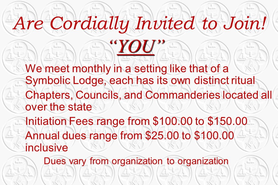 Are Cordially Invited to Join!