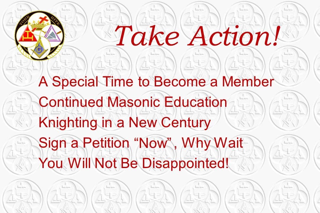 Take Action! A Special Time to Become a Member