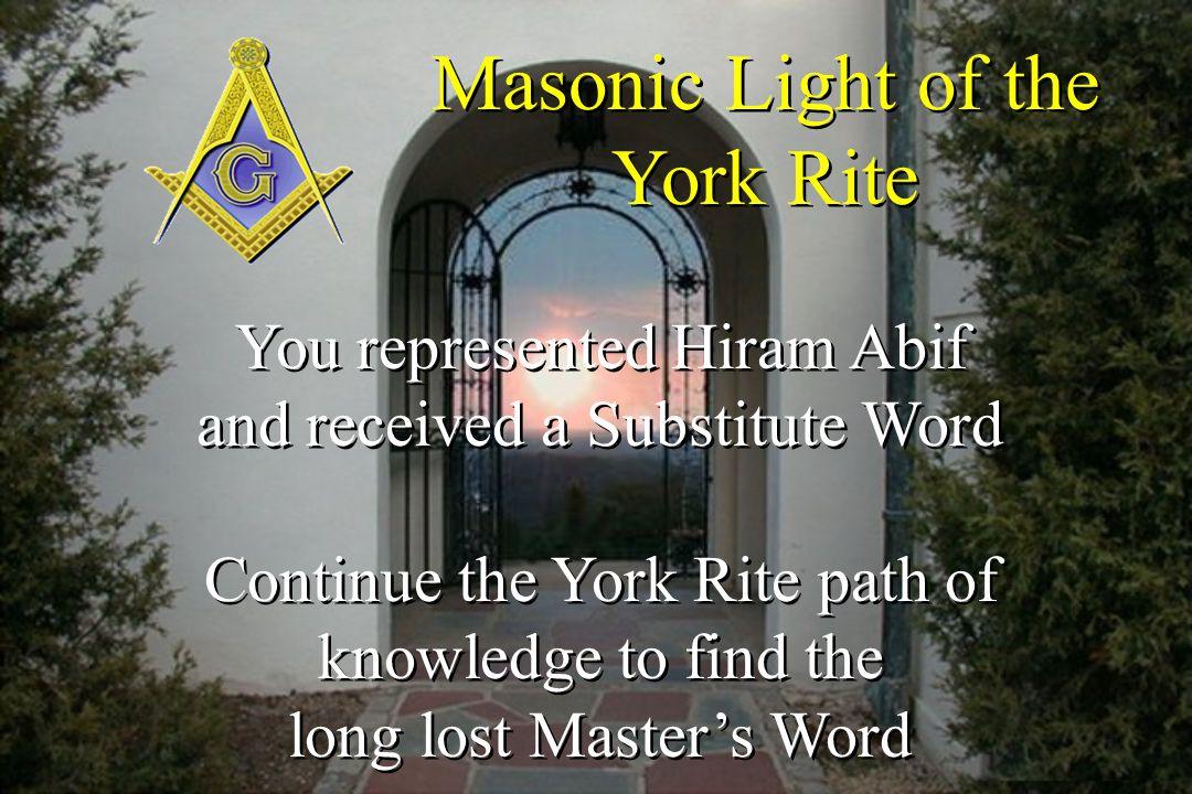 Masonic Light of the York Rite